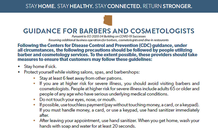 Guidance for barbers image
